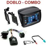 Autoradio 2-DIN Alpine Fiat Doblo & Opel Combo - CDE-W296BT, IVE-W560BT, IVE-W585BT OU ICS-X8 AU CHOIX
