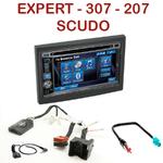 Autoradio 2-DIN Alpine Peugeot 207, 307 Expert & Fiat Scudo - CDE-W296BT, IVE-W560BT, IVE-W585BT OU ICS-X8 AU CHOIX
