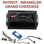 Autoradio Alpine Jeep Compass Grand Cherokee Patriot Wrangler - UTE-72BT, UTE-92BT, CDE-173BT, CDE-190R, CDE-193BT ou CDE-195BT au choix
