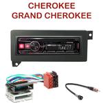Autoradio Alpine Jeep Cherokee & Grand Cherokee - UTE-72BT, UTE-92BT, CDE-173BT, CDE-190R, CDE-193BT ou CDE-195BT au choix