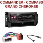 Autoradio Alpine Jeep Commander Compass Patriot Grand Cherokee - UTE-72BT, UTE-92BT, CDE-173BT, CDE-190R, CDE-193BT ou CDE-195BT au choix