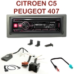 Autoradio Alpine Citroën C5 et Peugeot 407 - UTE-72BT, UTE-92BT, CDE-173BT, CDE-190R, CDE-193BT ou CDE-195BT au choix