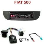 Autoradio Alpine Fiat 500 depuis 2007 - UTE-72BT, UTE-92BT, CDE-173BT, CDE-190R, CDE-193BT ou CDE-195BT au choix