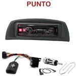 Autoradio Alpine Fiat Punto de 09/1999 à 2008 - UTE-72BT, UTE-92BT, CDE-173BT, CDE-190R, CDE-193BT ou CDE-195BT au choix
