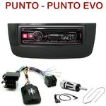 Autoradio Alpine Fiat Punto et Punto Evo - UTE-72BT, UTE-92BT, CDE-173BT, CDE-190R, CDE-193BT ou CDE-195BT au choix