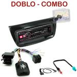 Autoradio Alpine Fiat Doblo depuis 2010 & Opel Combo depuis 2012 - UTE-72BT, UTE-92BT, CDE-173BT, CDE-190R, CDE-193BT ou CDE-195BT au choix