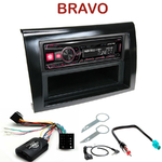 Autoradio Alpine Fiat Bravo depuis 2007 - UTE-72BT, UTE-92BT, CDE-173BT, CDE-190R, CDE-193BT ou CDE-195BT au choix