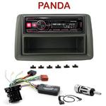 Autoradio Alpine Fiat Panda de 2003 à 2011 - UTE-72BT, UTE-92BT, CDE-173BT, CDE-190R, CDE-193BT ou CDE-195BT au choix