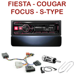 Autoradio Alpine Ford Cougar Fiesta Focus Mondeo Jaguar Type S - UTE-72BT, UTE-92BT, CDE-173BT, CDE-190R, CDE-193BT ou CDE-195BT au choix