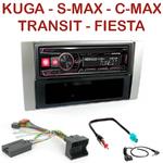 Autoradio Alpine Ford C-Max Kuga Focus Transit S-Max Galaxy - UTE-72BT, UTE-92BT, CDE-173BT, CDE-190R, CDE-193BT ou CDE-195BT au choix