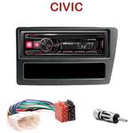 Autoradio Alpine Honda Civic de 12/2003 à 2006 - UTE-72BT, UTE-92BT, CDE-173BT, CDE-190R, CDE-193BT ou CDE-195BT au choix