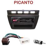 Autoradio Alpine Kia Picanto de 2004 à 2007 - UTE-72BT, UTE-92BT, CDE-173BT, CDE-190R, CDE-193BT ou CDE-195BT au choix
