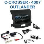 Poste 1-DIN CD/USB/Bluetooth Citroën C-Crosser, Mitsubishi Outlander & Peugeot 4007 depuis 2007 - autoradio JVC et Kenwood au choix