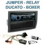 Poste 1-DIN CD/USB/Bluetooth Citroën Jumper & Relay, Fiat Ducato & Peugeot Boxer - autoradio JVC et Kenwood au choix