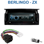 Poste 1-DIN CD/USB/Bluetooth Citroën Berlingo & ZX - autoradio JVC et Kenwood au choix