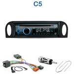 Poste 1-DIN CD/USB/Bluetooth Citroën C5 de 2001 à 2004 - autoradio JVC et Kenwood au choix