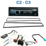 Poste 1-DIN CD/USB/Bluetooth Citroën C2 & C3 de 2003 à 2010 - autoradio JVC et Kenwood au choix