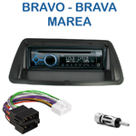 Poste 1-DIN CD/USB/Bluetooth Fiat Bravo, Brava, Marea & Marea WeekEnd - autoradio JVC et Kenwood au choix