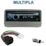 Poste 1-DIN CD/USB/Bluetooth Fiat Multipla de 1999 à 2010 (façade grise ou noire) - autoradio JVC et Kenwood au choix