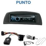 Poste 1-DIN CD/USB/Bluetooth Fiat Punto de 09/1999 à 2008 - autoradio JVC et Kenwood au choix