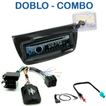 Poste 1-DIN CD/USB/Bluetooth Fiat Doblo depuis 2010 & Opel Combo depuis 2012 - autoradio JVC et Kenwood au choix
