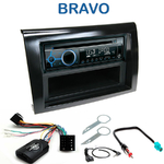 Poste 1-DIN CD/USB/Bluetooth Fiat Bravo depuis 2007 - autoradio JVC et Kenwood au choix