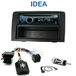 Poste 1-DIN CD/USB/Bluetooth Fiat Idea depuis 2005 - autoradio JVC et Kenwood au choix