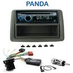 Poste 1-DIN CD/USB/Bluetooth Fiat Panda de 2003 à 2011 - autoradio JVC et Kenwood au choix