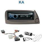 Poste 1-DIN CD/USB/Bluetooth Ford Ka de 1999 à 2008 (façade azur ou argent) - autoradio JVC et Kenwood au choix
