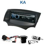 Poste 1-DIN CD/USB/Bluetooth Ford Ka depuis 2009 - autoradio JVC et Kenwood au choix