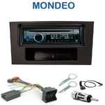 Poste 1-DIN CD/USB/Bluetooth Ford Mondeo de 06/2003 à 2007 - autoradio JVC et Kenwood au choix