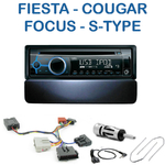 Poste 1-DIN CD/USB/Bluetooth Ford Cougar, Fiesta, Galaxy, Puma, Focus, Mondeo & Jaguar Type S - autoradio JVC et Kenwood au choix