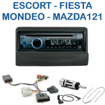 Poste 1-DIN CD/USB/Bluetooth Ford Escort, Orion, Fiesta, Mondeo, Transit, Scorpio & Mazda 121 avant 2000 - autoradio JVC et Kenwood au choix