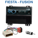 Poste 1-DIN CD/USB/Bluetooth Ford Fiesta & Fusion avant 09/2005 - autoradio JVC et Kenwood au choix