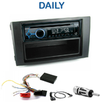 Poste 1-DIN CD/USB/Bluetooth Iveco Daily de 2007 à 2009 - autoradio JVC et Kenwood au choix