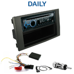 Poste 1-DIN CD/USB/Bluetooth Iveco Daily de 2009 à 2014 - autoradio JVC et Kenwood au choix