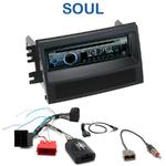 Poste 1-DIN CD/USB/Bluetooth Kia Soul de 11/2008 à 2010 - autoradio JVC et Kenwood au choix