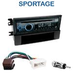 Poste 1-DIN CD/USB/Bluetooth Kia Sportage de 01/2005 à 08/2008 - autoradio JVC et Kenwood au choix