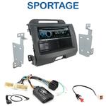 Poste 1-DIN CD/USB/Bluetooth Kia Sportage de 08/2010 à 2014 - autoradio JVC et Kenwood au choix