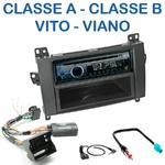 Poste 1-DIN CD/USB/Bluetooth Mercedes Classe A & Classe B de 2005 à 2013, Vito & Viano depuis 2006 - autoradio JVC et Kenwood au choix