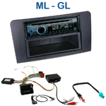 Poste 1-DIN CD/USB/Bluetooth Mercedes Mercedes ML W164 & GL X164 de 2005 à 2011 - autoradio JVC et Kenwood au choix