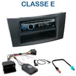 Poste 1-DIN CD/USB/Bluetooth Mercedes Classe E (W211) Limousine de 2002 à 2009 - autoradio JVC et Kenwood au choix