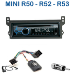 Poste 1-DIN CD/USB/Bluetooth Mini Cooper, One & Cabriolet - autoradio JVC et Kenwood au choix