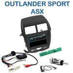 Poste 1-DIN CD/USB/Bluetooth Mitsubishi ASX depuis 02/2010 & Outlander Sport depuis 2011 - autoradio JVC et Kenwood au choix