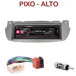 Autoradio Alpine Nissan Pixo & Suzuki Alto depuis 2009 - UTE-72BT, UTE-92BT, CDE-173BT, CDE-190R, CDE-193BT ou CDE-195BT au choix