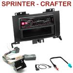 Autoradio Alpine Mercedes Sprinter VW Crafter (Audio 20) - UTE-72BT, UTE-92BT, CDE-173BT, CDE-190R, CDE-193BT ou CDE-195BT au choix
