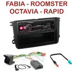 Autoradio Alpine Skoda Fabia, Roomster, Octavia & Rapid - UTE-72BT, UTE-92BT, CDE-173BT, CDE-190R, CDE-193BT ou CDE-195BT au choix