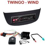 Autoradio Alpine Renault Twingo II Wind - UTE-72BT, UTE-92BT, CDE-173BT, CDE-190R, CDE-193BT ou CDE-195BT au choix