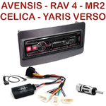 Autoradio Alpine Toyota Avensis Celica MR2 Yaris Verso RAV4 - UTE-72BT, UTE-92BT, CDE-173BT, CDE-190R, CDE-193BT ou CDE-195BT au choix