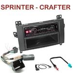 Autoradio Alpine Mercedes Sprinter Volkswagen Crafter (Audio 10 d'origine) - UTE-72BT, UTE-92BT, CDE-173BT, CDE-190R, CDE-193BT ou CDE-195BT au choix